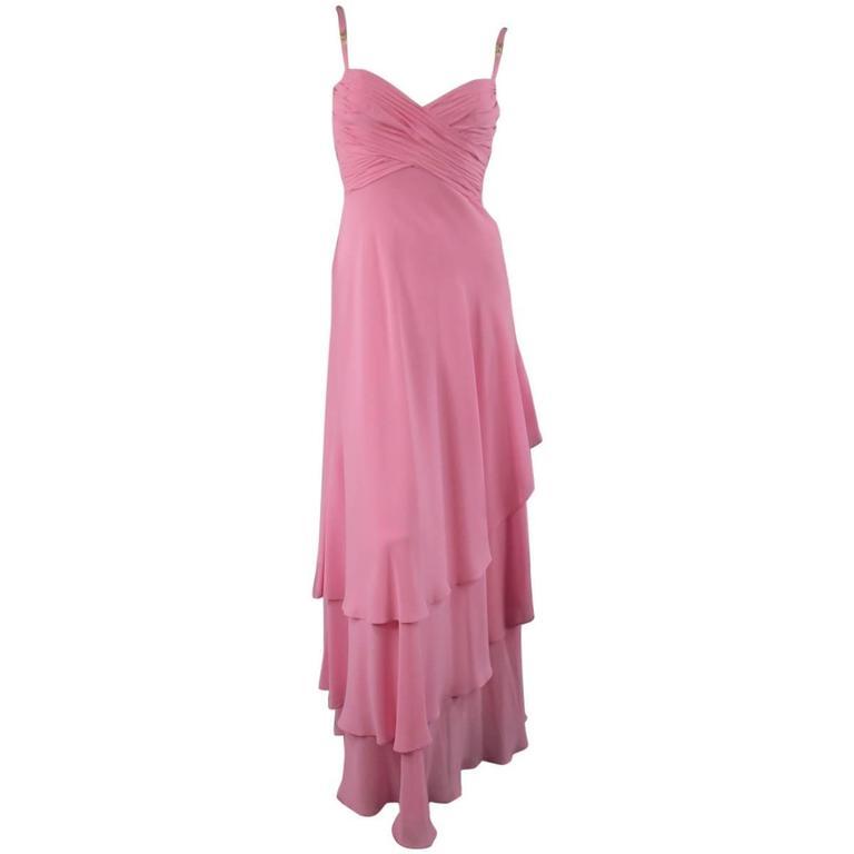 ESCADA COUTURE  Pink Silk Evening Gown