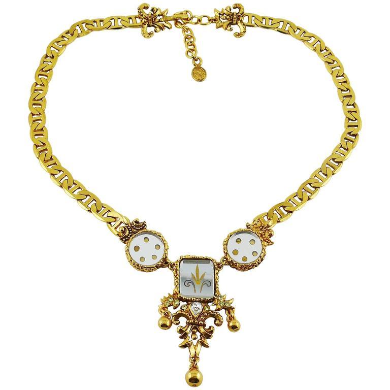 Christian Lacroix Vintage Baroque Venitian Mirror Necklace 1
