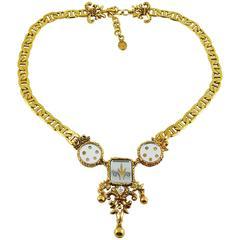 Christian Lacroix Vintage Baroque Venitian Mirror Necklace