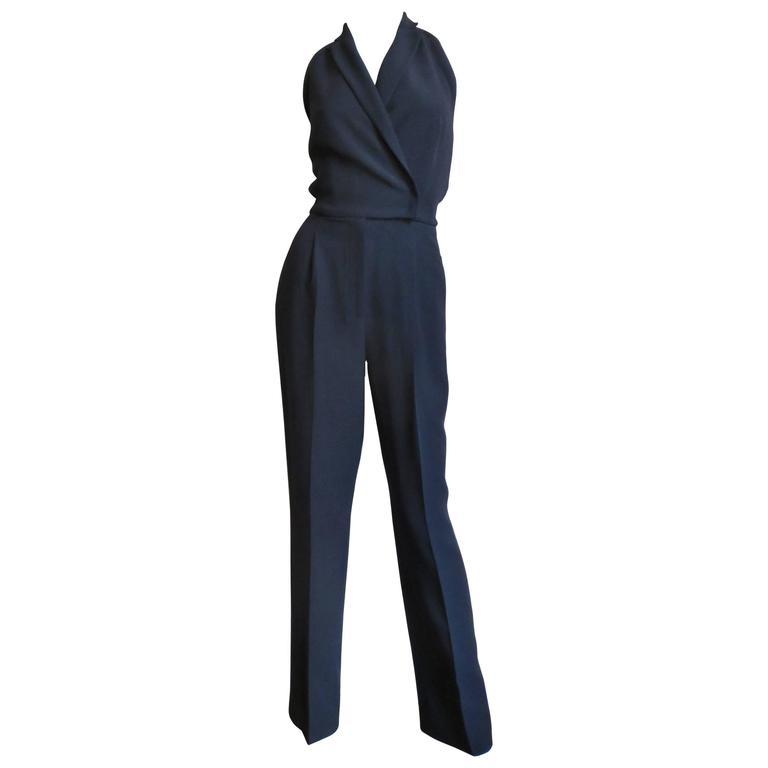 Valentino Silk Wrap Halter Jumpsuit