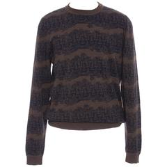 Louis Vuitton Christopher Nemeth Men's Wool Sweater With Rope Pattern, Fall 2015