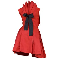 Christian Lacroix Red Taffeta Bow Dress