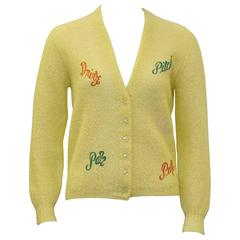 1950's Ladies Novelty Golf Cardigan Made For Saks 5th Ave.