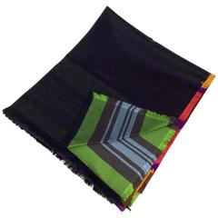 Gucci Multicolor Striped Woven Scarf