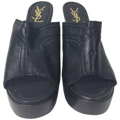 YSL Black Slide Heels