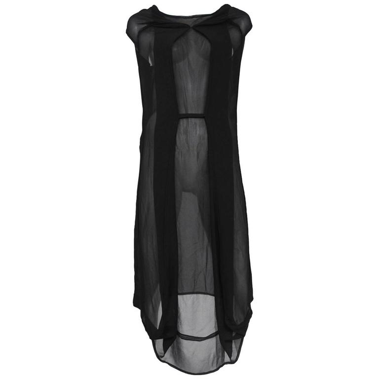 Martin Margiela Chiffon Car Seat Collection Dress 2006 For Sale