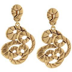 Oscar de la Renta Swirl Earrings