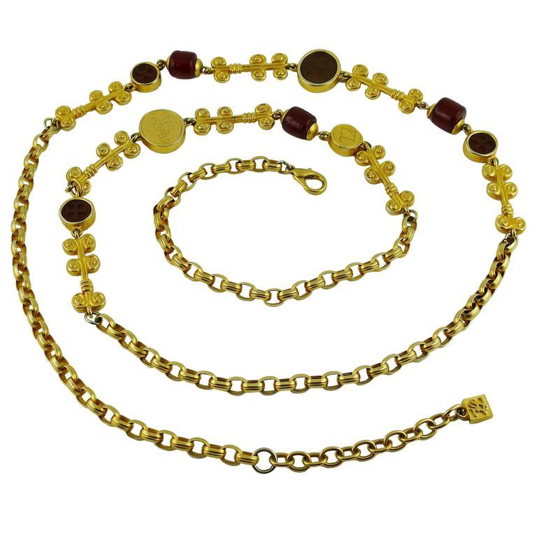 Karl Lagerfeld Vintage Gripoix Sautoir Necklace 1