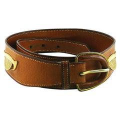 "Hermes Vintage 1950s Rare ""Tirelire"" Belt"