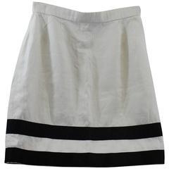 Vintage Chanel Summer Linen  Skirt. Size 40