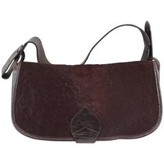 Nice Vintage Kento Bag in Poney and Brown Leather