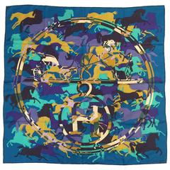 Hermes Silk Twill Carre Ex Libris En Camouflage by Benoit-Pierre Emery