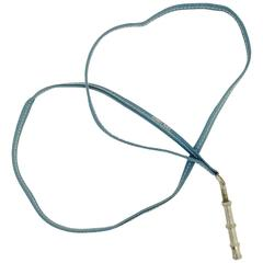 Hermes Dog Whistle With Blue Jean Leather Strap