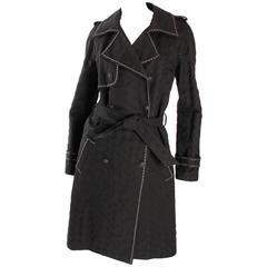 Chanel Trenchcoat - black/silver Runway