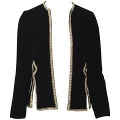 Malcolm Starr Black Velvet Jacket