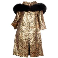 1960s Gold Coat with Fox