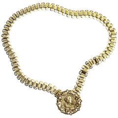 60s Goldette Medallion Necklace