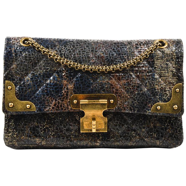 Chanel Special Edition Gray Coated Lacquered Tweed Gold Hardware Crossbody Bag 1