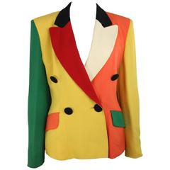 Moschino Colour Blocked Double Breasted Jacket