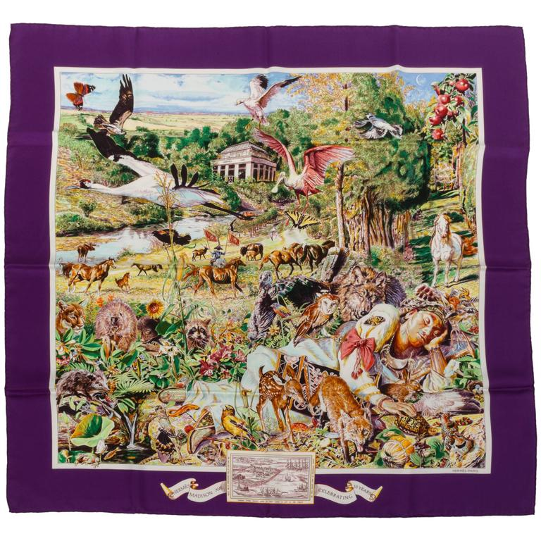Hermes Limited Edition Madison Avenue Scarf by Kermit Oliver