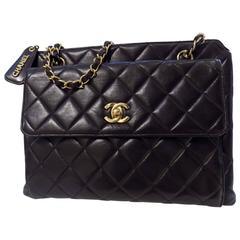 Chanel Black Lambskin Leather Bag