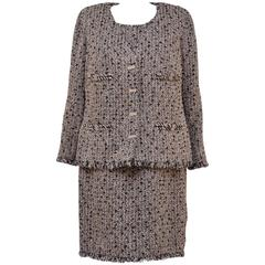CHANEL Haute Couture Tweed Dress With Matching Jacket   Beautiful.....