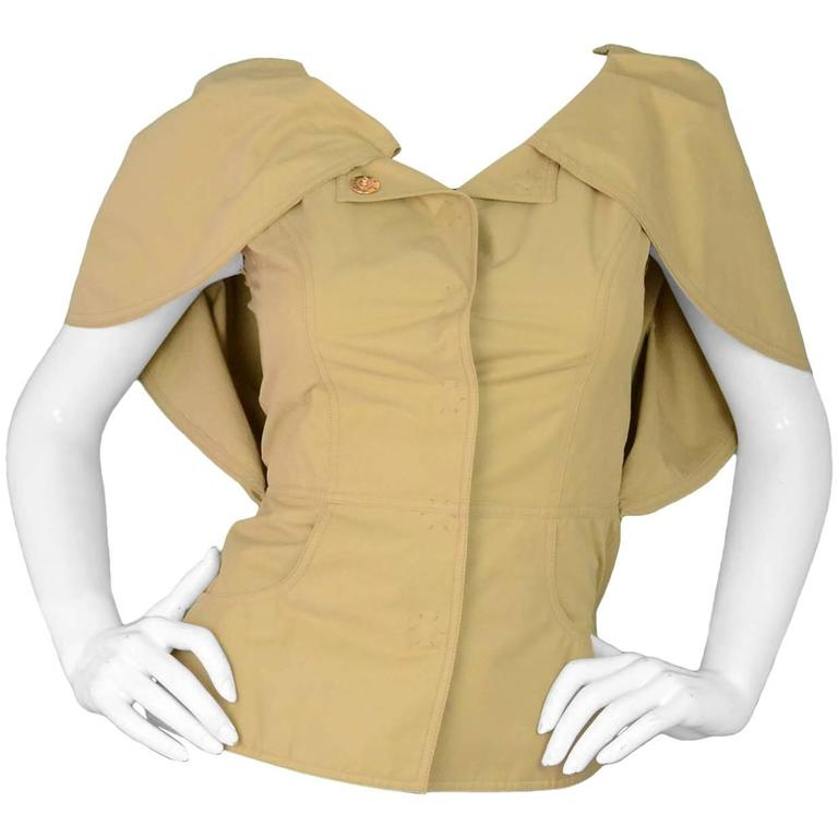 Fendi Beige Cape Jacket Sz 38 NWT rt. $1,990 1