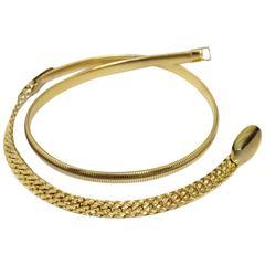 70s Gold Chain Stretch Belt