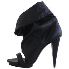 Balenciaga Black Leather Booties
