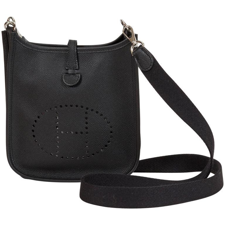 NEW Hermès Black Epsom Mini Evelyne Bag at 1stdibs 4ce70d98b466