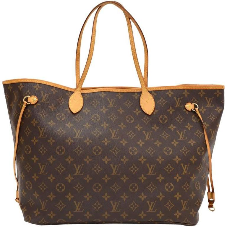 Louis Vuitton Neverfull GM Monogram Canvas Shoulder Tote Bag 1