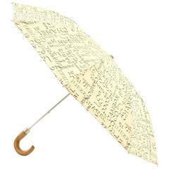 Chanel Beige x Black Graffiti Cotton Folding Umbrella