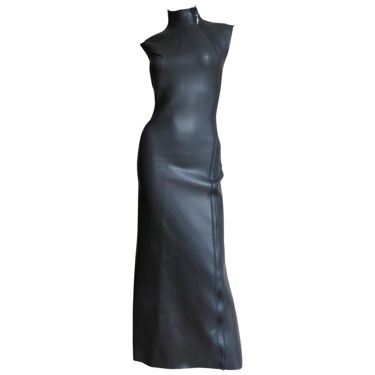 Jean Paul Gaultier Scuba Cheongsam Maxi Dress 1