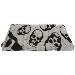 Lucien Pellat-Finet  Skull Print Cashmere Knit Scarf