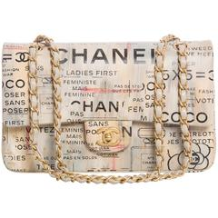 Chanel Limited Edition Graffiti Newspaper Print Double Flap Bag, Spring 2015