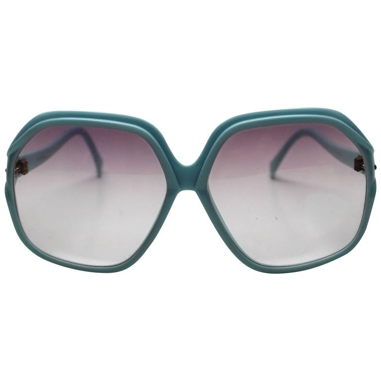 1970s Deadstock Light Blue Sunglasses Made in Italy