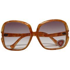 1970s Deadstock Orange Sunglasses Made in Italy