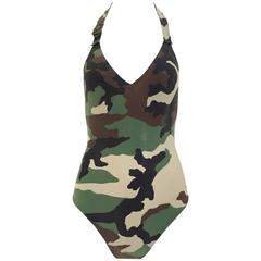 Christian Dior by John Galliano camouflage bathing suit
