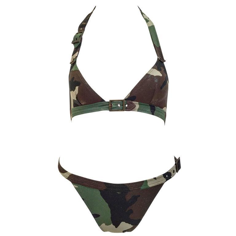 Christian Dior camoufage bikini 1