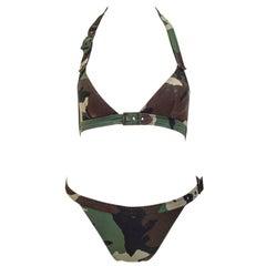 Christian Dior camoufage bikini