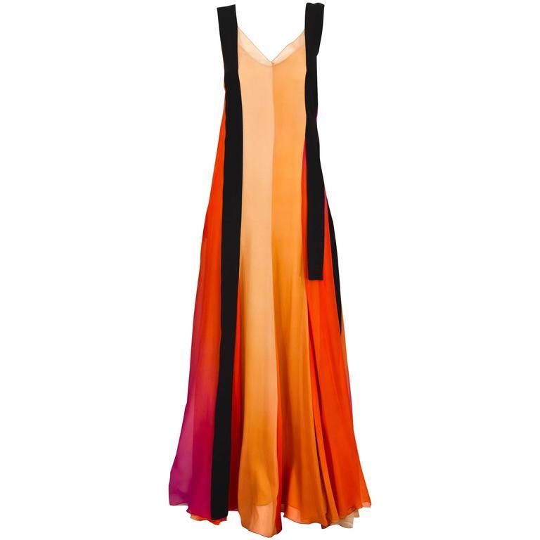Sonia Rykiel Spring 2012 Runway Silk Chiffon Gown
