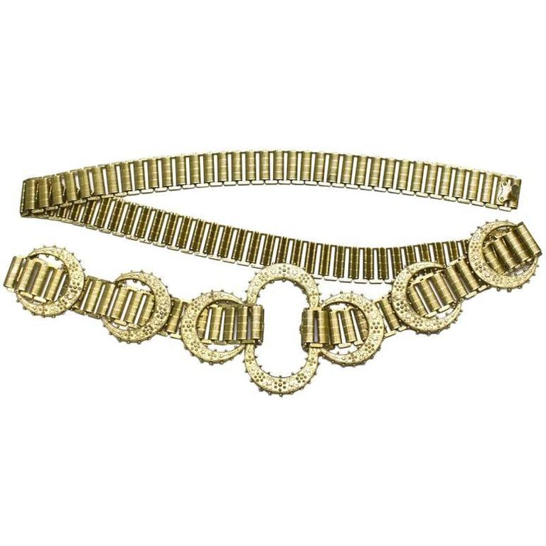 1960's MIddle Eastern Inspired Goldlink Belt 1