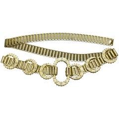 1960's MIddle Eastern Inspired Goldlink Belt