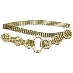 1960's MIddle Eastern Inspired Goldlink Belt