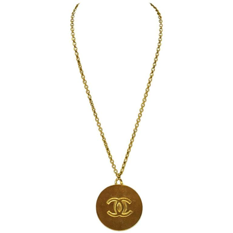 1980's Chanel Star Pendant Necklace For Sale