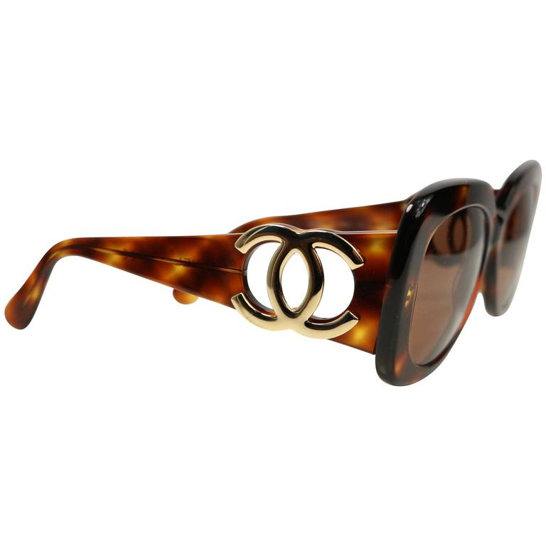 Chanel Tortoiseshell Sunglasses For Sale