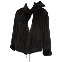Exclusive Knitted Mink Fur jacket