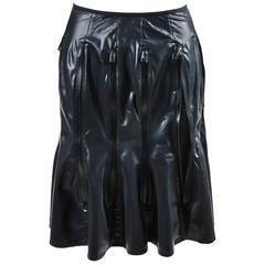 Junya Watanabe Comme des Garcons Black Vertical Zipper Flare Skirt Size XS