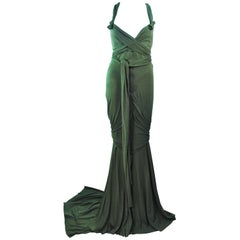 ELIZABETH MASON COUTURE Bamboo Jersey Eco Chic Draped Gown Made To Order