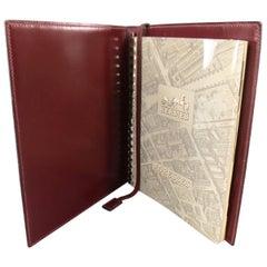 Hermes Vintage Burgundy Leather Address Book